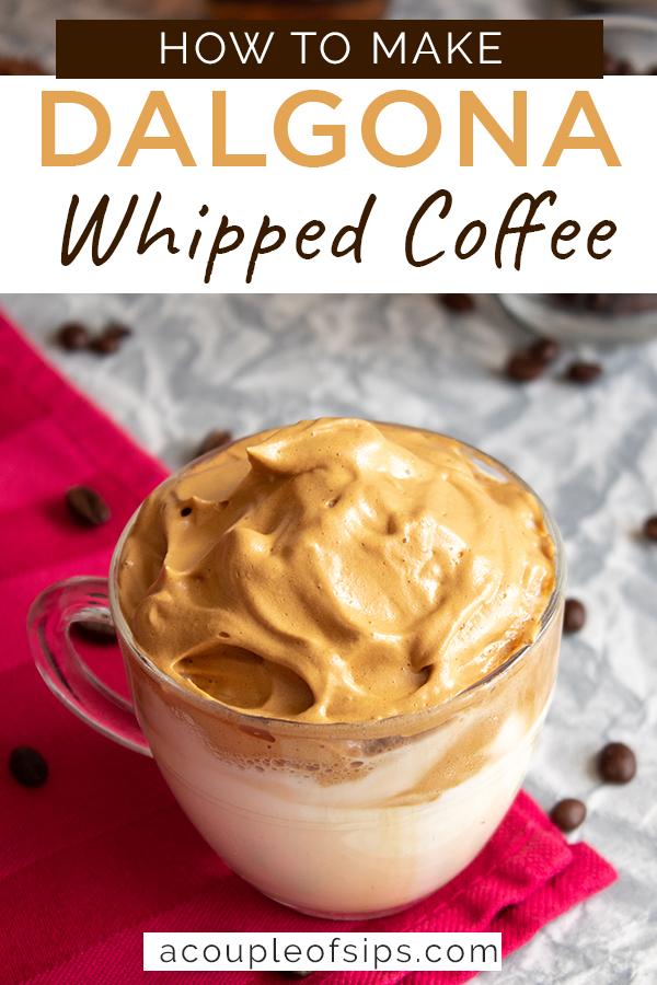 Dalgona coffee Pinterest graphic