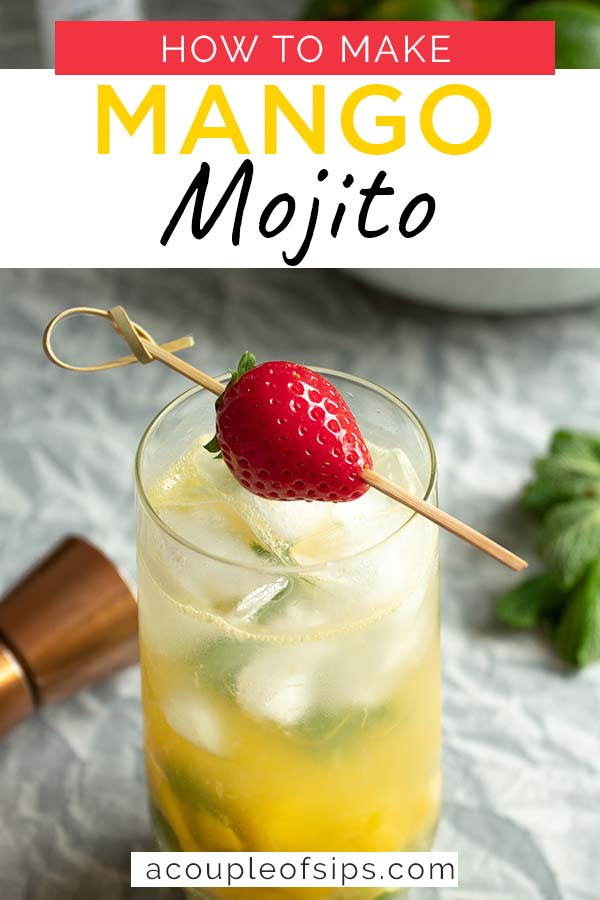 Mango Mojito Cocktail pinterest graphic