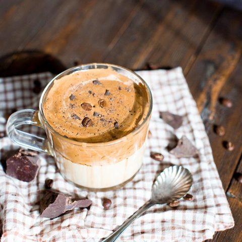 Chocolate dalgona coffee recipe