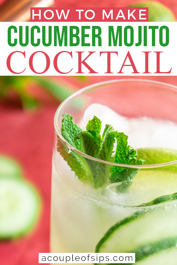 Cucumber mojito Pinterest graphic