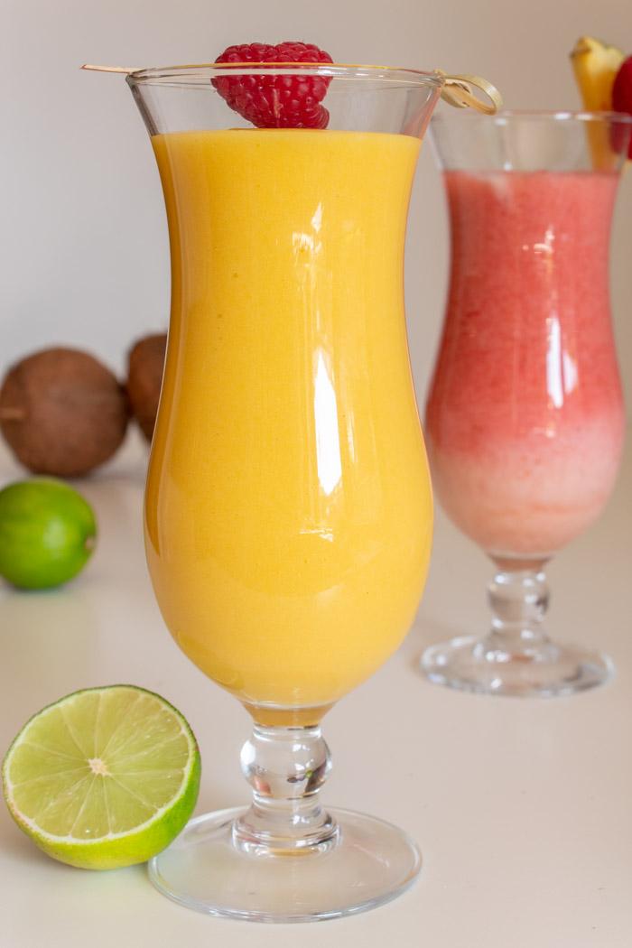 Mango pina colada cocktail