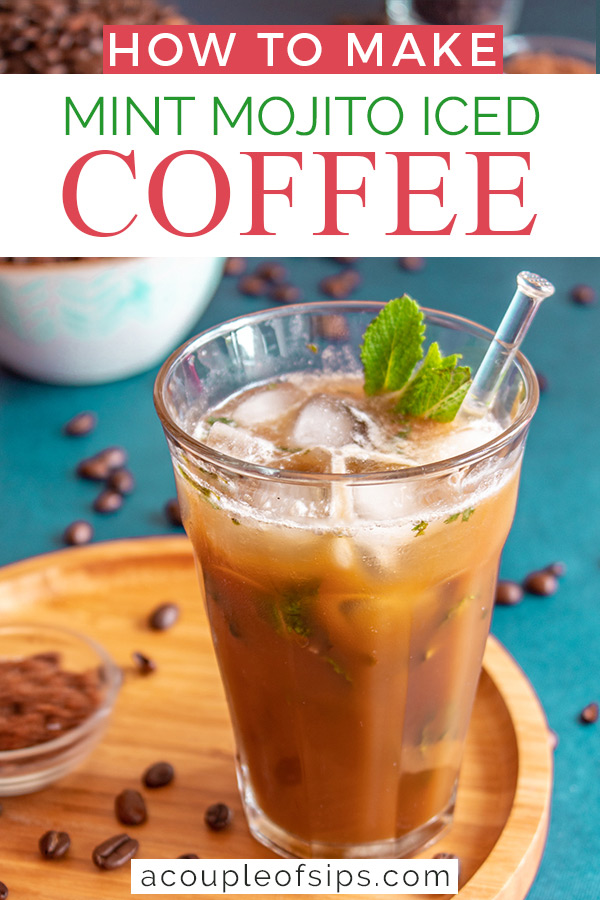 Mint mojito coffee Pinterest graphic
