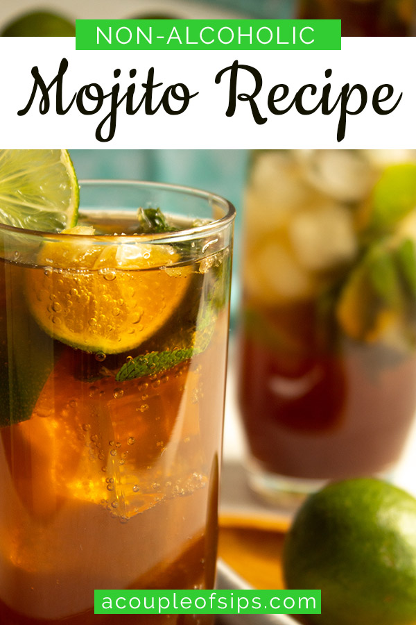 Mojito Mocktail Pinterest graphic