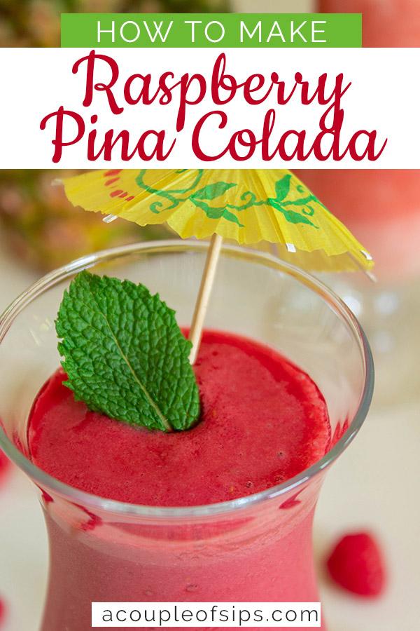 Raspberry pina colada pinterest graphic