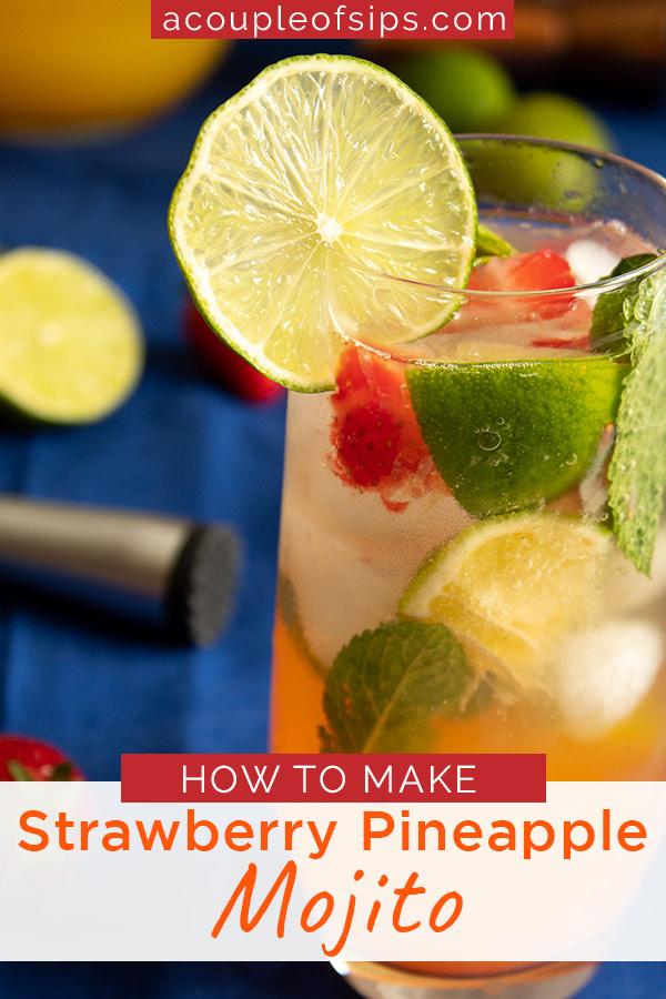 Strawberry Pineapple Pinterest graphic