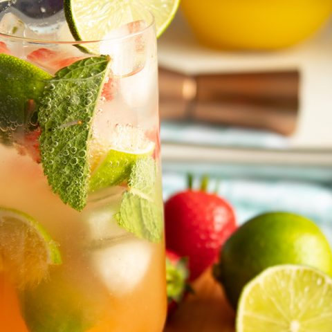Refreshing Strawberry Pineapple Mojito