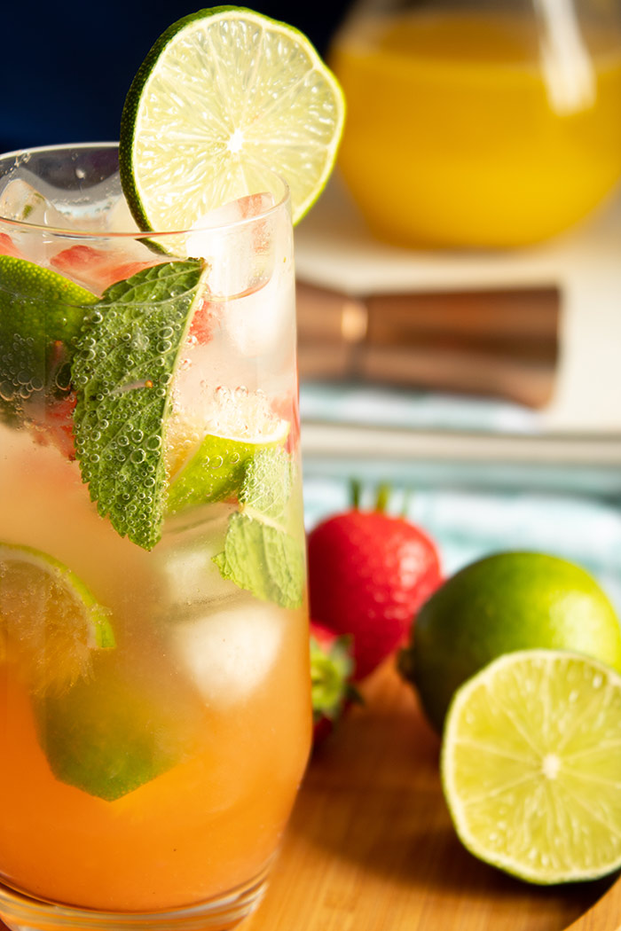 Refreshing Strawberry Pineapple Mojito