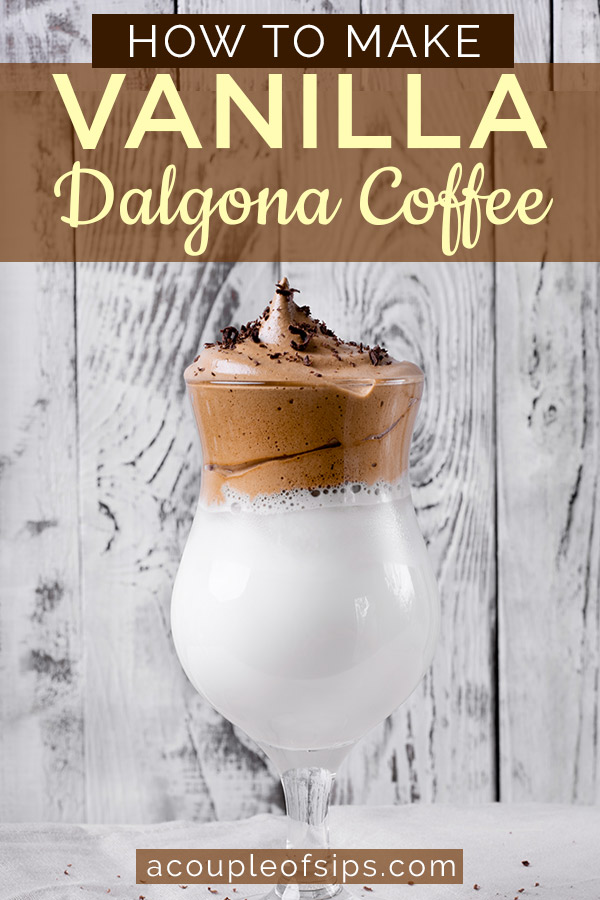 Vanilla Dalgona Coffee Pinterest Graphic