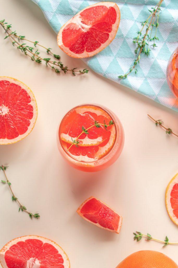 Aperol Grapefruit Cocktail Glass