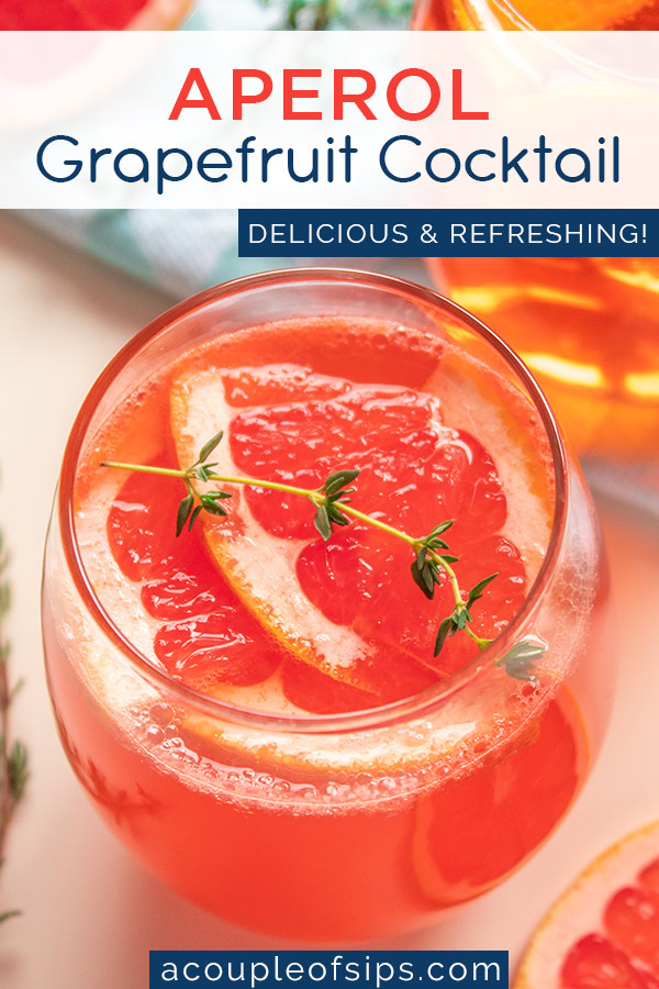 Aperol Grapefruit Cocktail Pinterest Graphic