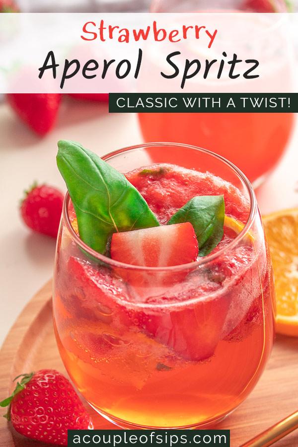 Strawberry Aperol Spritz Pinterest Graphic