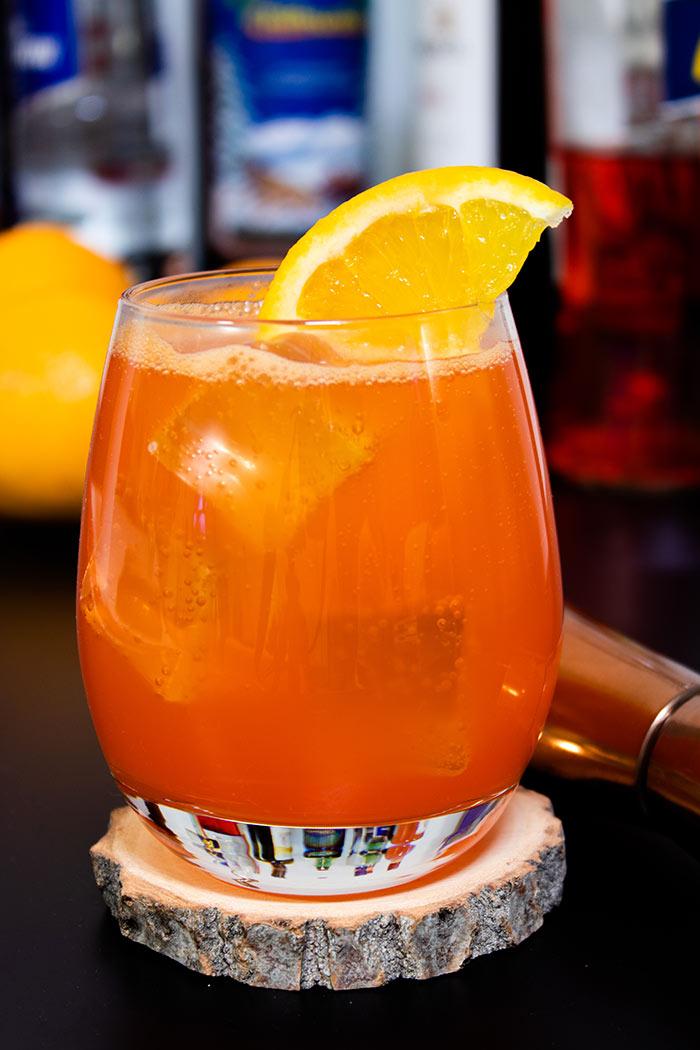 Aperol Orange Juice Glass