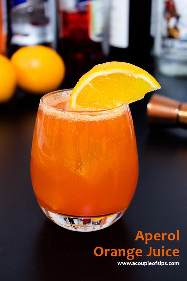Aperol Orange Juice Pinterest Graphic