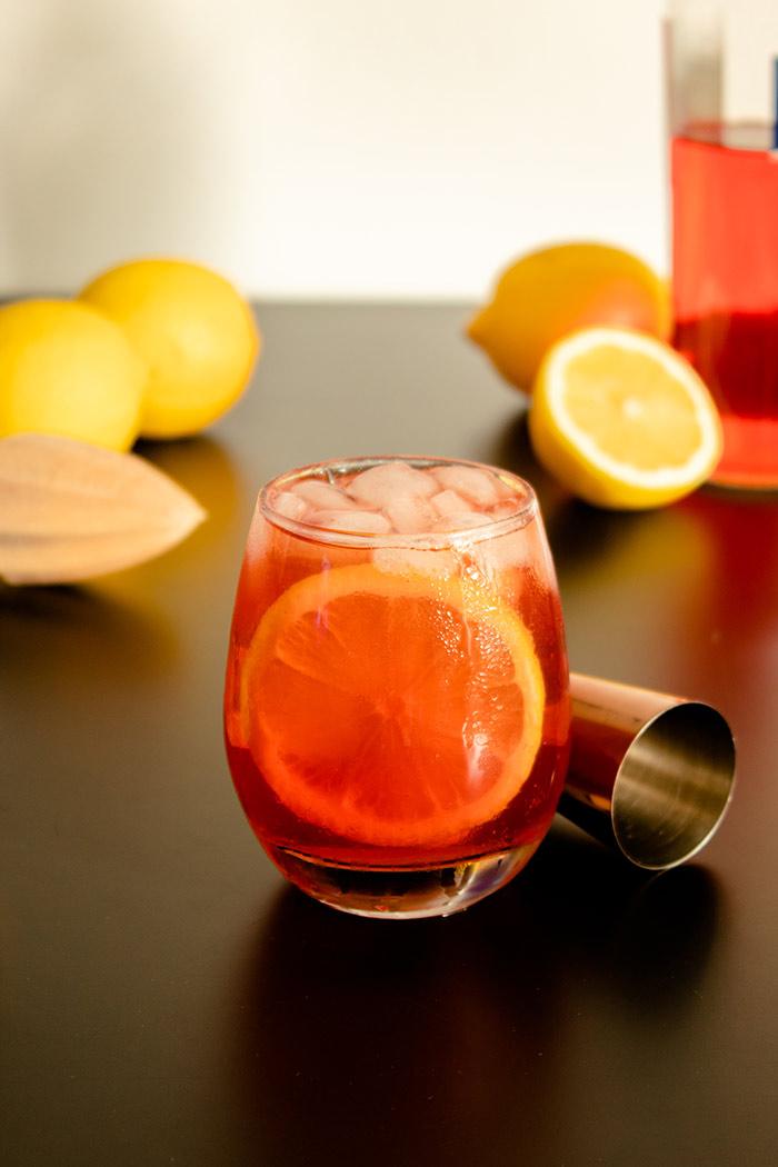 Aperol Tonic Cocktail Glass