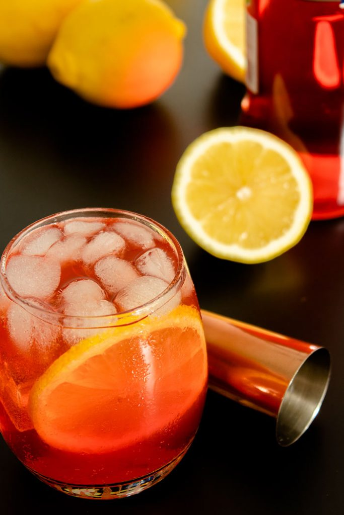 Aperol Tonic Cocktail with Ice