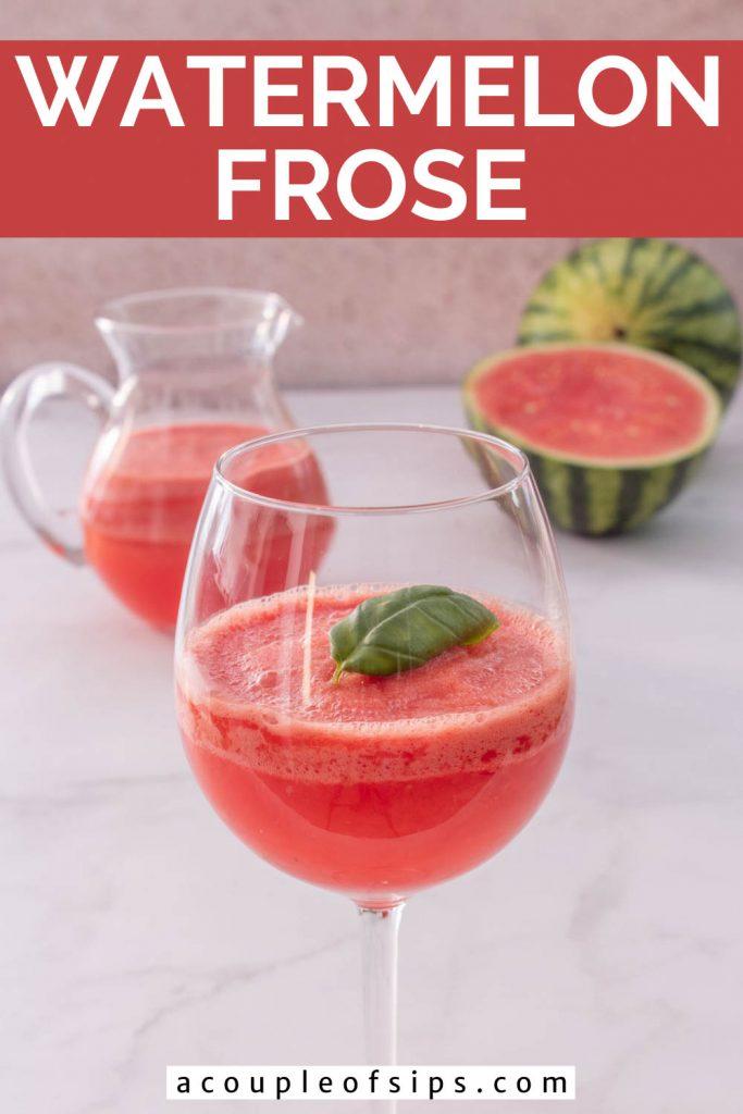 Watermelon Frosé Pinterest graphic