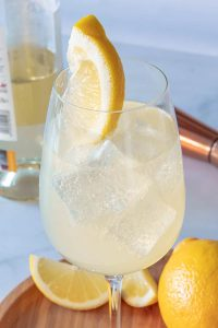 Lemonade Spritzer in a glass