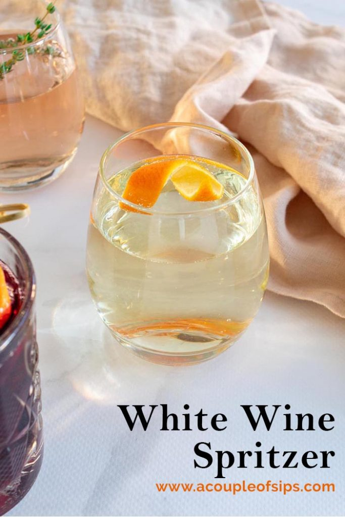White Wine Spritzer Pinterest Graphic