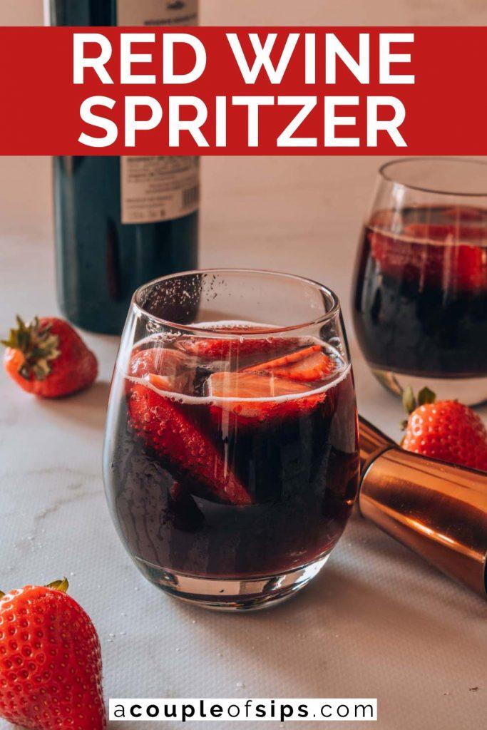 Red wine spritzer Pinterest graphic